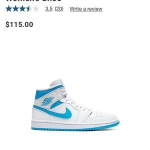 "Air Jordan 1 Mid ""White/Powder Blue"" Women's shoe"